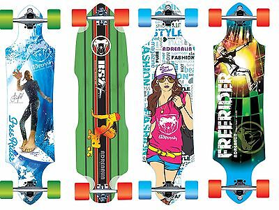 Adrenalin Complete Drop Thru  Longboard Skateboard Downhill Cruiser  Long Board