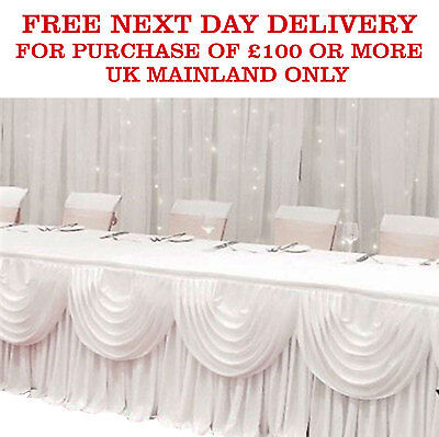 Wedding DETACHABLE SWAG Silky Satin Backdrop Party Stage Decoration