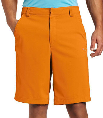 Puma Tech Mens Golf Shorts - Orange