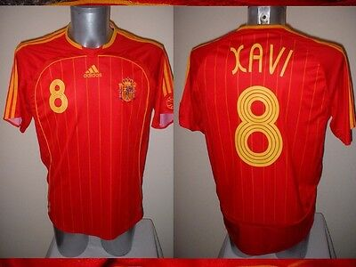 bc72ea17576 Spain Espana Xavi Shirt Jersey Football Soccer Adidas Adult XL Barcelona 06  Top