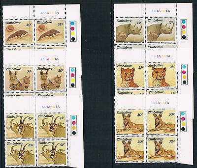 Zimbabwe 1989 Endangered Species Pl.Blks SG 762/7 MNH