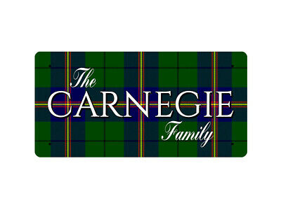 WP_CLAN_063 The CARNEGIE Family (Carnegie Family Tartan) - Metal Wall Plate