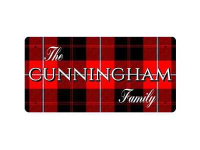 WP_CLAN_085 The CUNNINGHAM Family (CUNNINGHAM Modern Tartan) - Metal Wall Plate