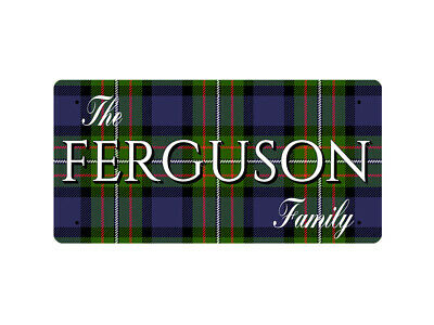 WP_CLAN_109 The FERGUSON Family (Fergusson Modern Tartan) - Metal Wall Plate