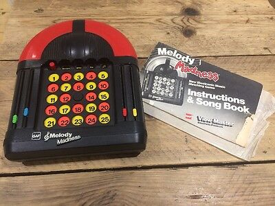 Melody Madness Electronic Musical Game By GAF Early 1980s & Instructions Rare
