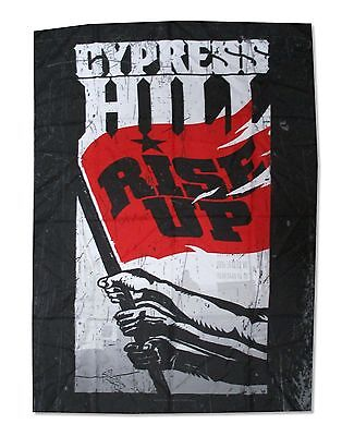 Cypress Hill Rise Up Fists Nylon Wall Flag Fabric Poster New Official Rap Music