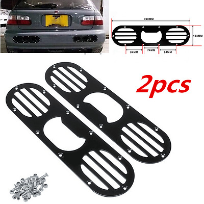 New 2pcs Black Rear Bumper Air Diversion Diffuser Panel For Universal Auto Car