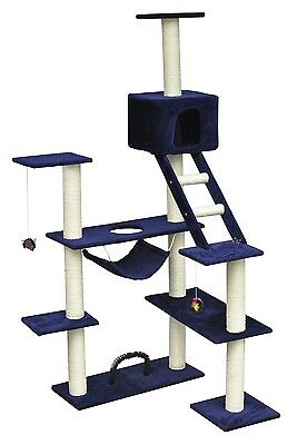 Cat Tree 184 Pet Scratcher Post Poles House Gym Condo Furniture Scratching Blue