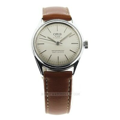 ORIS Star 17 Jewel Vintage Watch 32mm Silver Dial 7079