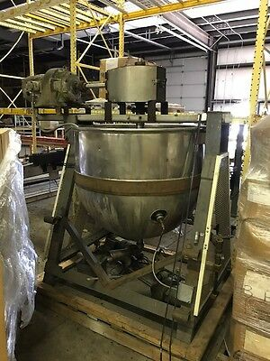 150 Gallon Lee SS Steam Jacketed Kettle w/ motor