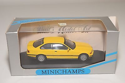 . Minichamps Bmw 3 Series Coupe 1991 E36 Yellow Mint Boxed