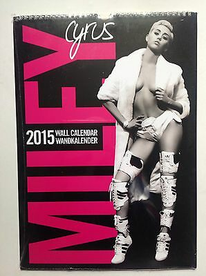 Miley Cyrus Official 2015 Calendar Brand New & Sealed Free UK Postage