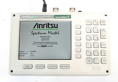 Anritsu MS2711D Spectrum Analyzer 100kHz to 3GHz w Opt. 3 Color, 21 Transmission