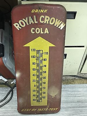 1940's Royal Crown / RC Cola Vintage Advertising Donasco Sign & Thermometer