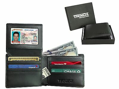 Men's Bifold Leather Wallet Multi Credit Card Holder Clutch Travel RFID Purse