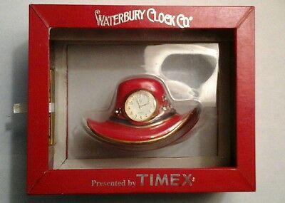 NIB Collectible Red Hat Society Clock by Waterbury Timex Clock Company
