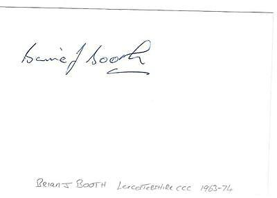 Brian J Booth cricket autograph
