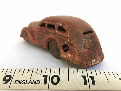 vintage MARX tin litho wind up TRICKY FIRE CHIEF car