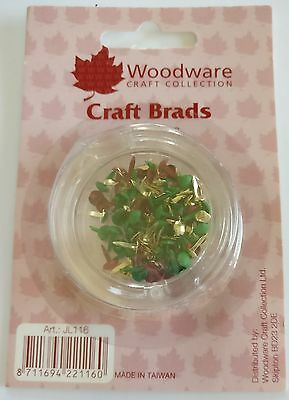 PACK OF 100 BRADS - Christmas Colours - Woodware