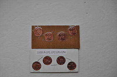 2009 P 4 Coin Set of Special Issue Lincoln Cent UNC