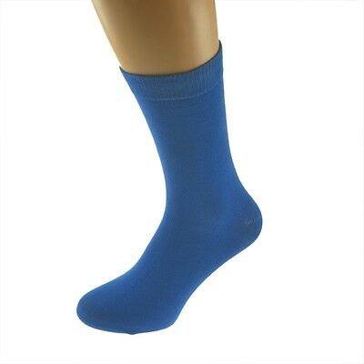 Plain Bright Blue Socks in Mens, Womens and Kids Sizes - X6S106