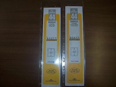 2 Packages Prinz-Scott Stamp Mounts Size 44/215 in BLACK Background