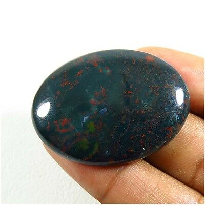 55.45Cts. NATURAL BLOODSTONE CABOCHON BEAUTIFUL!! 39x28 mm.OVAL GEMSTONE BD-14