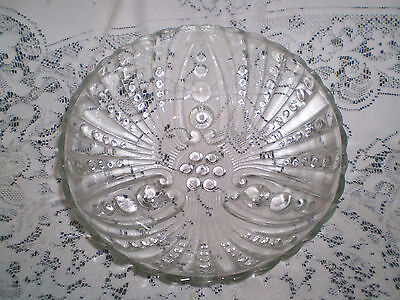 "Vintage Federal Glass Columbia Salad Bowl 8&1/2"" Ex Condition"