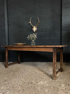 Stunning Antique French Country Farmhouse Refectory Kitchen Dining Table
