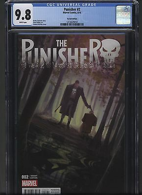 Punisher 2 Marvel 2016 CGC 9.8 Vanesa Del Ray variant Hot! Free S/H!