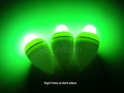 3 LED Luminously Electronic Fishing light Floats & 3 batteries / Local shipping!