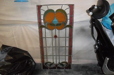 X2 leaded light stained glass windows from the 1930,s no cracked glass