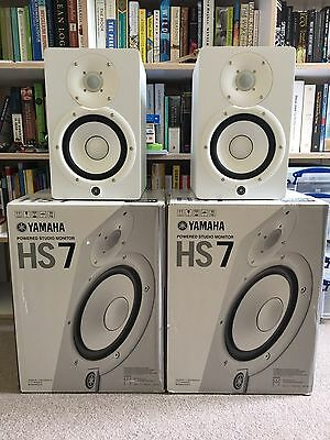 Yamaha HS7 Powered Studio Monitors (White) - Pair