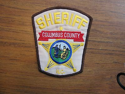 VINTAGE  Columbus County NC Sheriff Dept.  Whiteville, North Carolina  tan cloth