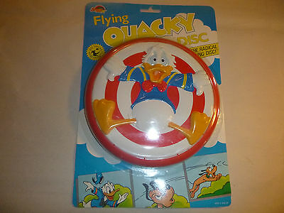 """1989 Donald """"Quacky Disc"""" Duck Frisbee by Spectra Star disney new collectible"""