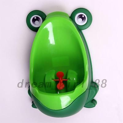 Frog Children Potty Toilet Training Kids Urinal Baby Boys Stand Up Pee Trainer