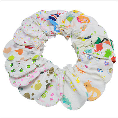 6x Unisex Newborn Baby Infant Soft Cotton Handguard Anti Scratch Mitten Gloves