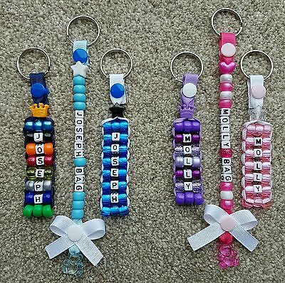 Personalised name key rings and school Bag tags 3 for £5