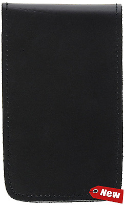 HWC LEATHER POCKET 3X5 MEMO BOOK COVER NOTE PAD HOLDER - PLAIN New!!