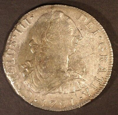 1781 Mo FF Mexico Silver 8 Reales Shipwreck Salvaged ** Free U.S. Shipping **