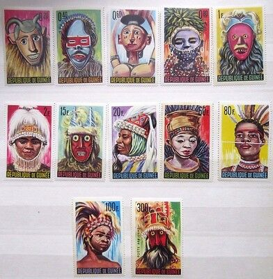 Guinea 1965 Native Masks Set. MNH.