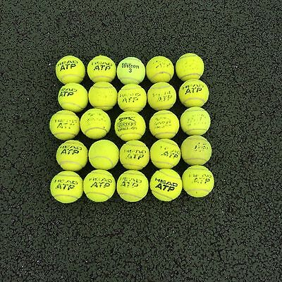 Box Of 25 Tennis Balls - Mixed Brands, Used