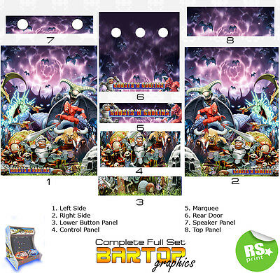 Ghosts and Goblins Full/Half Sets Arcade Artwork Stickers Graphics / Laminated