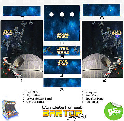 Starwars Full/Half Sets Arcade Artwork Stickers Graphics / Laminated All Sizes