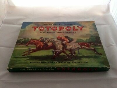 Totopoly Horse Racing Board Game Waddingtons 1960s METAL COMPLETE VGC RARE 3