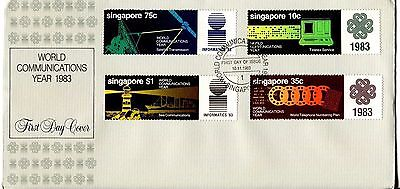 Singapore 1983 Communications Year FDC