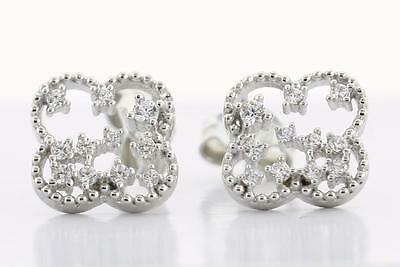 Solid 925 Sterling Silver Cubic Zirconia stud Earrings ES6410E