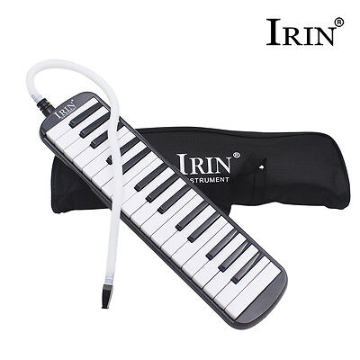 Piano Style Melodica Organ Accordion Mouth Piece Blow Key Board 32 Keys With Box