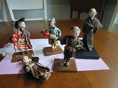 antique,vintage,composition,oriental,Japanese,Asian,dolls,SOME W/ IMPERFECT FEET