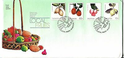 Singapore 1986 Local Fruits FDC
